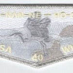 Ho-Nan-Ne-Ho-Ont Lodge #165 40th Anniversary Flap S35
