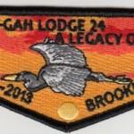 Final Shu Shu Gah Lodge #24 Flap – A Legacy of Service 1925-2013 S57
