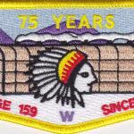Ho-De-No-Sau-Nee Lodge #159 75th Anniversary Yellow Border S53
