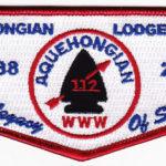 Kintecoying Lodge #4 HS5 & Aquehongian #112 HS1 A Legacy of Service Flap