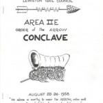 1958 Area 2-E Conclave Pamphlet