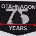 Otahnagon Lodge #172 75th Anniversary Flap S29