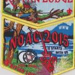 Kittan Lodge #364 2015 NOAC Yellow Bordered Sponsor Set S36 X19
