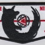 Lowanne Nimat Lodge #219 100th Anniversary Black Border Vigil Flap S19