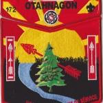 Otahnagon Lodge #172 2015 NOAC Set 2 Red Border S33 X6
