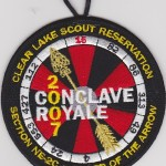 2007 Section NE-2C Conclave – Conclave Royale Staff Pocket Patch?