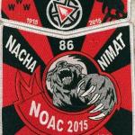 Nacha Nimat Lodge #86 2015 NOAC 2-Piece Trader Set S54 X36