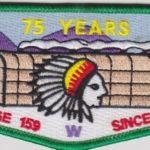 Ho-De-No-Sau-Nee Lodge #159 75th Anniversary Green Border S52