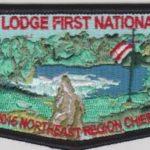 Buckskin Lodge #412 First National Officer NER Chief Chris Boyle Black Bordered Flap S83
