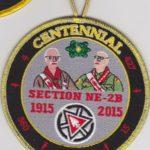 Section NE-2B Centennial 1915-2015 Chief's Thank You Patch.