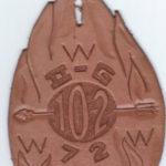 Area 2-G 1972 Conclave Leather Staff Pocket Hanger