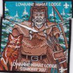 Lowanne Nimat Lodge #219 2017 Jamboree Set Black Border  S29 X11