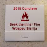 Section NE-4A 2018 Conclave Promotional Matchbook.