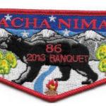 Nacha Nimat Lodge #86 2013 Banquet Flap eS2013