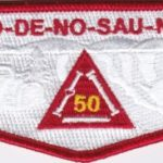 Ho-De-No-Sau-Nee Lodge #159 50th Anniversary Vigil Flap S73