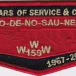 Ho-De-No-Sau-Nee Lodge #159 50 Years of Service & Counting Flap S74
