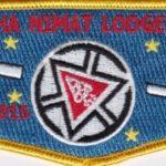 Nacha Nimat Lodge #86 Centennial Set Flap Red 1915-2015 S57