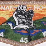 Ho-Nan-Ne-Ho-Ont Lodge #165 New 45th Anniversary Flap SMY S48