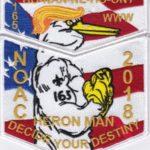 Ho-Nan-Ne-Ho-Ont Lodge #165 2018 NOAC Staff White Border Set S50 X21