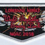 Lowanne Nimat Lodge #219 Section NE-3A 2018 NOAC Flap S42