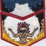 Nacha Nimat Lodge #86 2018 NOAC Set Red Mylar Border Tan Flames Set S59a/X39a