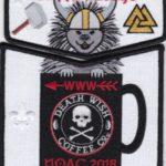 Kittan Lodge #364 2018 NOAC Death Wish Coffee Black Border Set S44 X26